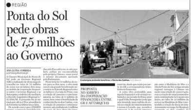 Obras na Ponta do Sol - Ofício enviado ao Governo Regional