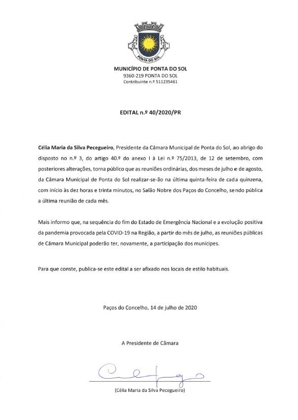 Regresso das reuniões públicas da Câmara Municipal da Ponta do Sol