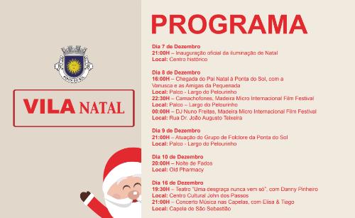 VILA NATAL - Programa