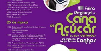 XIII Feira Regional da Cana-de-Açúcar e seus derivados