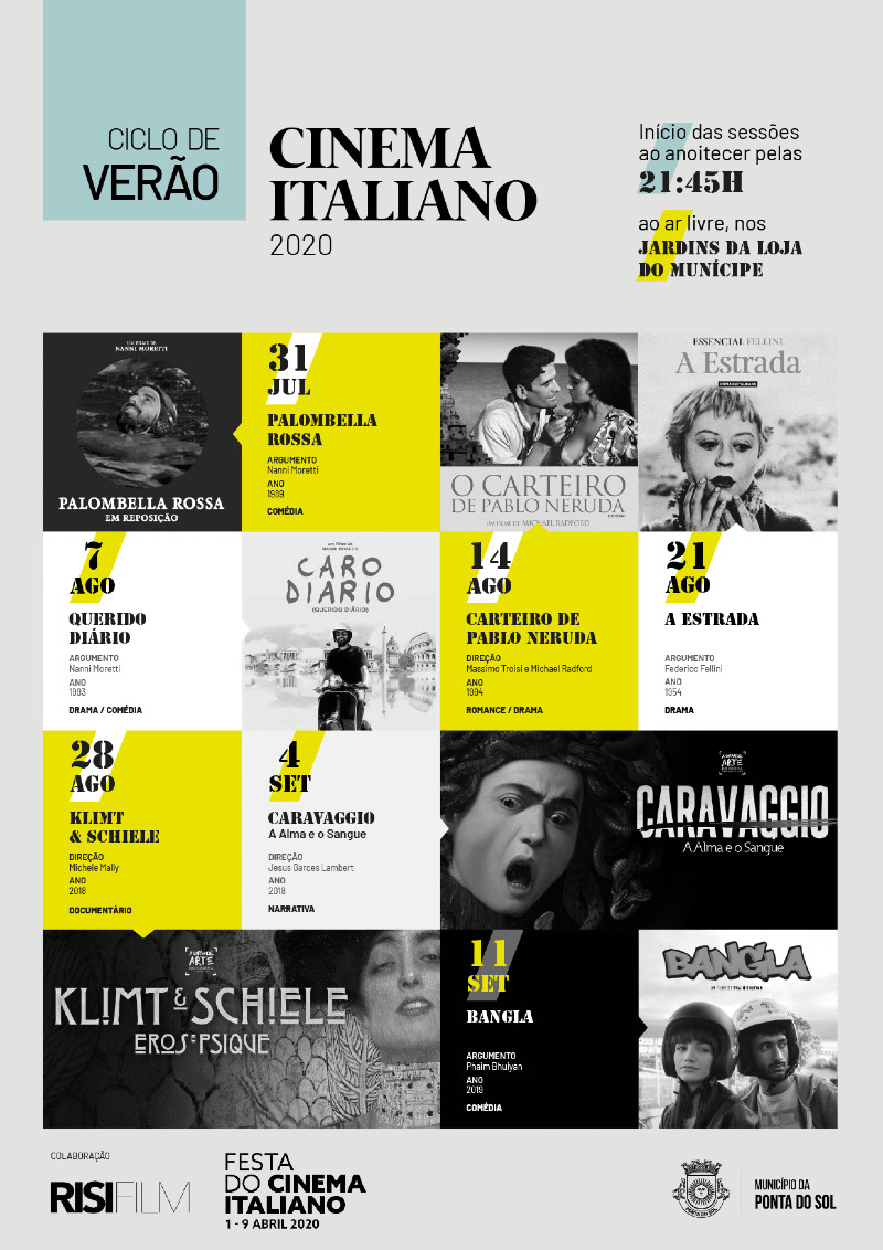 Ciclo de Verão: Cinema Italiano na Ponta do Sol