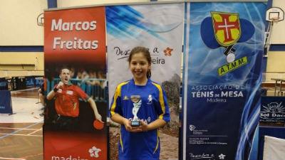 Andreia Batista sagrou-se vencedora:  18º Torneio Aberto Ténis de Mesa