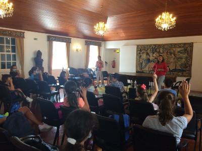 Atividades com os jovens do Clube de Ténis de Mesa da Ponta do Sol