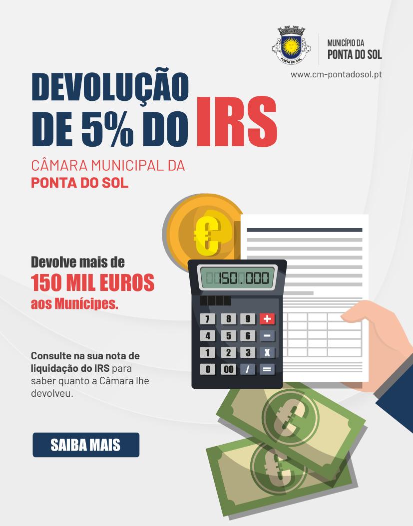 A Câmara Municipal da Ponta do Sol devolve mais de 150 mil euros aos munícipes em IRS