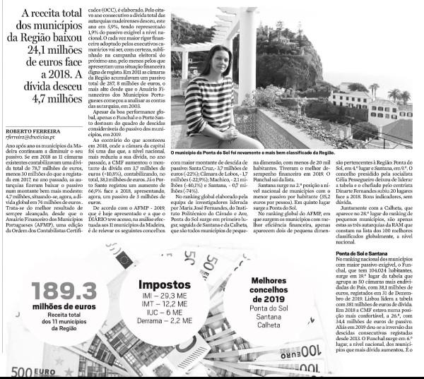 Ponta do Sol com reconhecido rigor financeiro na gestão das contas públicas