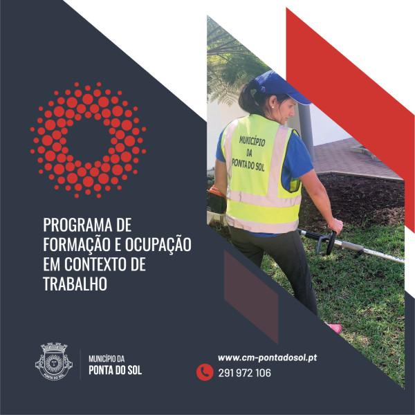 Candidaturas abertas ao Programa de Formação e Ocupação em Contexto de Trabalho