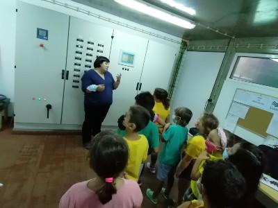 Crianças do Campo de Férias em aula de boas práticas ambientais