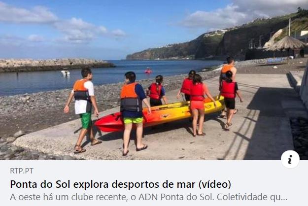 Desportos de verão na Praia da Ponta do Sol (vídeo)