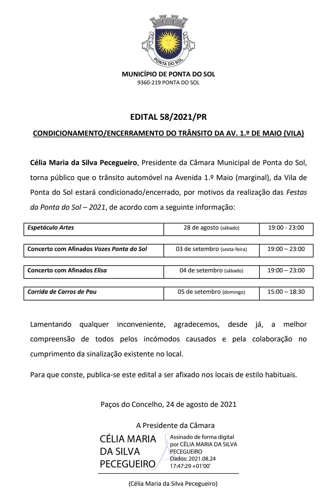 Informação: Condicionamento de trânsito na Av. 1º de Maio (Vila)