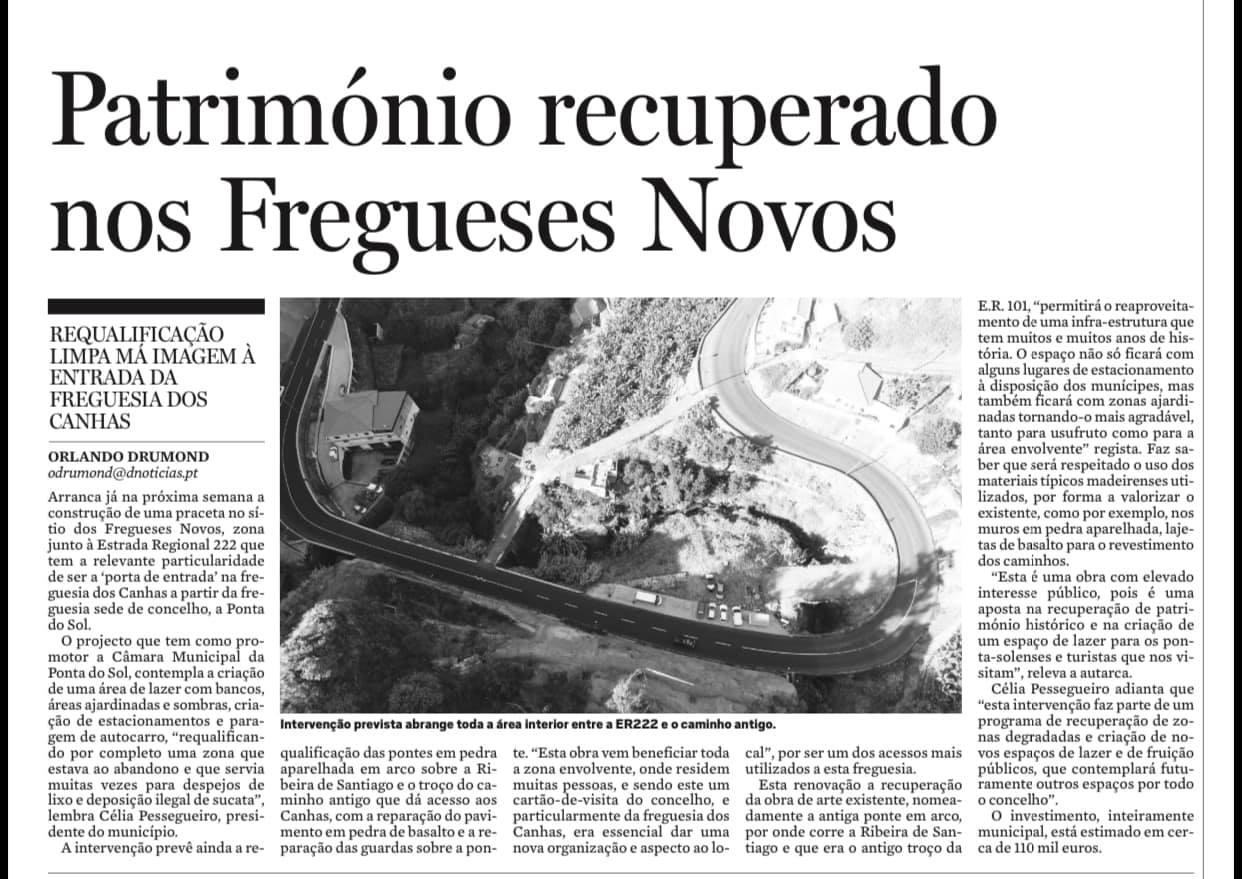 Arranjo Urbanístico no sítio dos Fregueses Novos | freguesia dos Canhas