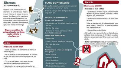 Sismos | Conselhos para maior proteção